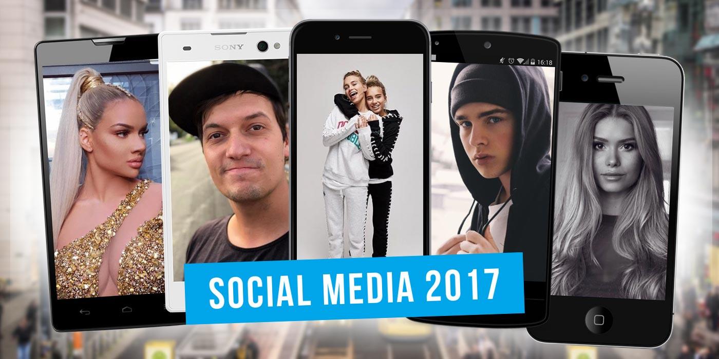 Social Media Stars 2017: Rückblick auf Trends, Newcomer und Kampagnen