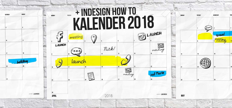 Kalender 2018 ausdrucken: Kostenlose PDF + InDesign Tutorial