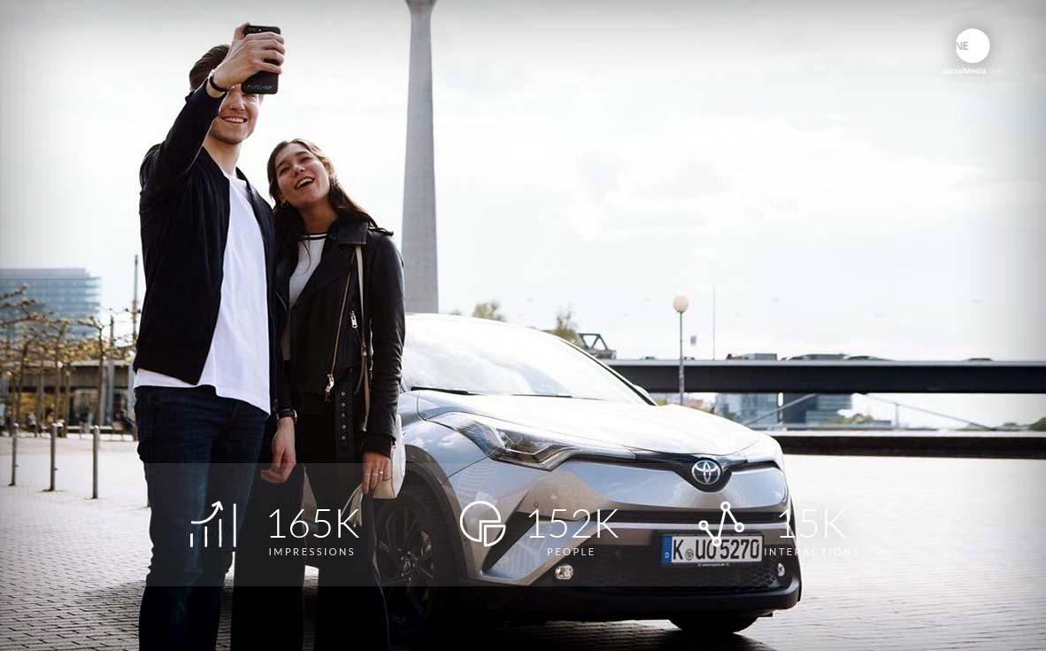 Probefahrt im neuen Toyota C-HR Hybrid, heute mit Influencer!
