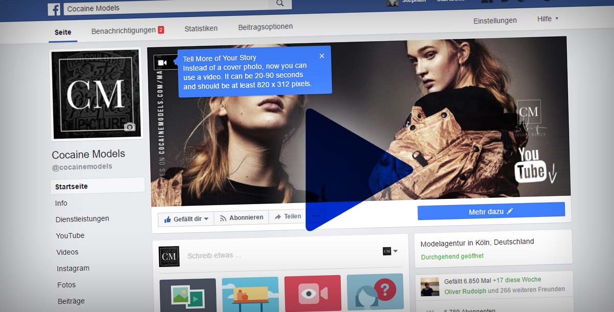 NEU! Facebook Änderung: Video Marketing + Design für die Fanpage