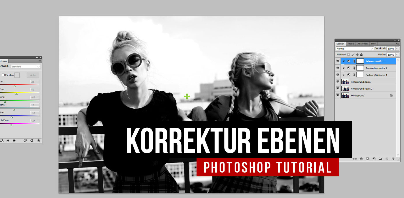 Korrekturebenen in Photoshop: Licht-, Kontrast-, Farben-Tutorial für Beginner