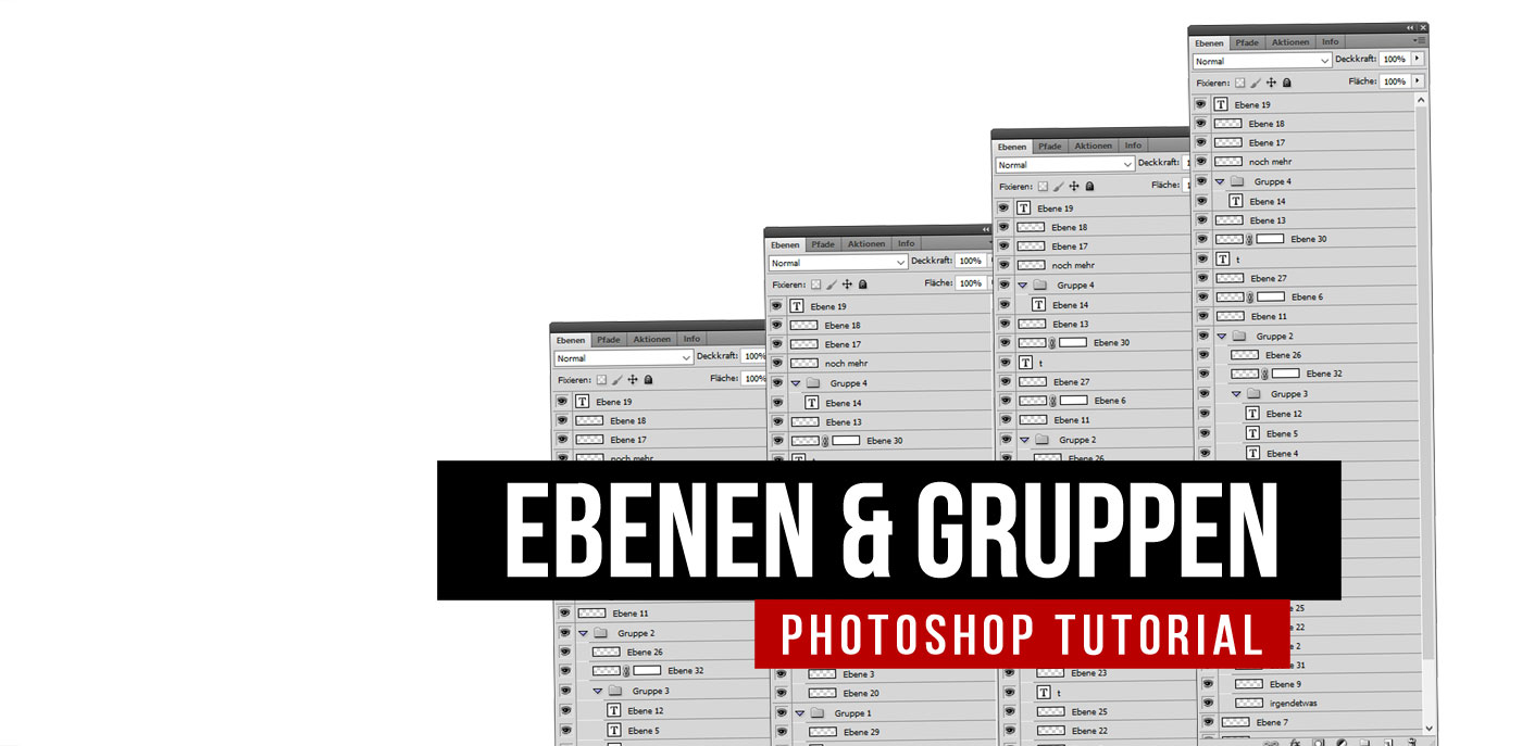 Photoshop Tutorial zu Ebenen, Masken und Gruppen für Beginner