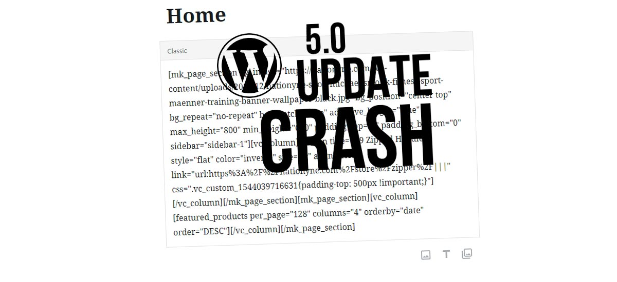 WPBakery Page Builder funktioniert nicht mehr? WordPress 5.0 Update