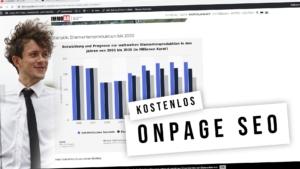 SEO Onpage Optimierung - Onsite Tipps mit Definition und Erklärvideo (kostenlos)